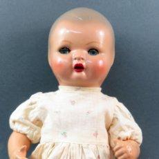 Muñeca española clasica - Quique cabeza celuloide y cuerpo cartón piedra ojo durmiente ropa original años 50 36 cm - 164587638