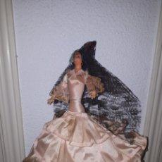 Muñeca española clasica: ANTIGUA GITANA AÑOS 50 MARIN 33 CM. Lote 165008033