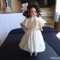 Muñeca española clasica: MUÑECA ANTIGUA DE CARTON-PIEDRA. Lote 165229306
