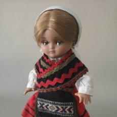 Muñeca española clasica: PRECIOSA LINDA PIRULA VESTIDA CON TRAJE TÍPICO REGIONAL CREO ASTURIANA ,CASA ALBA AÑOS 50. Lote 165397098