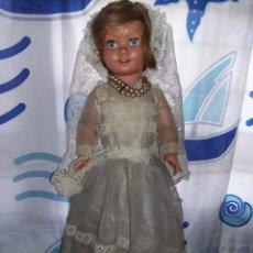 Muñeca española clasica: BONITA MUÑECA DE NOVIA PELIRROJA 50 CM GINA MUÑECAS ALFONSO AÑOS 60 DE ORIGEN. Lote 165964790