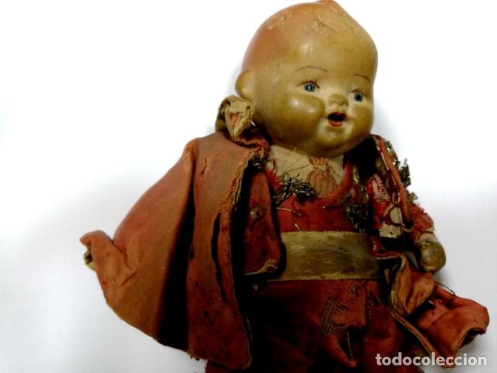 Muñeca española clasica: ANTIGUO MUÑECO VESTIDO DE TORERO. VER FOTOS. MEDIDAS : 17 X 9 CM APROX. - Foto 2 - 166900928