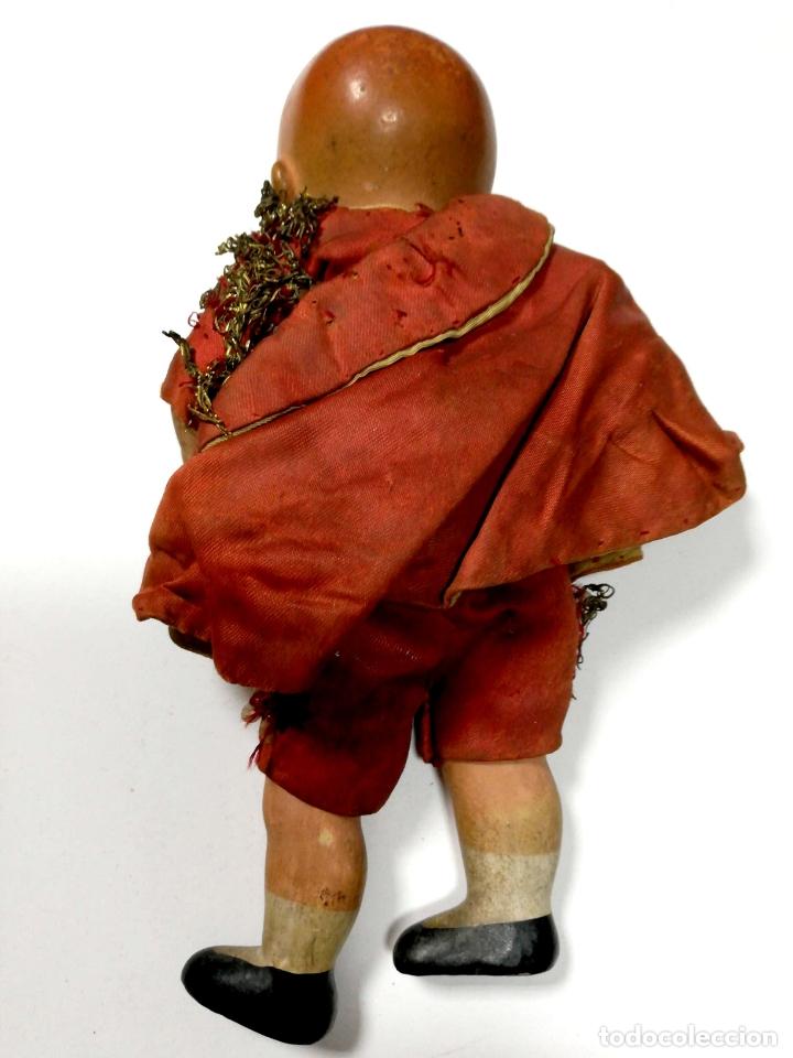 Muñeca española clasica: ANTIGUO MUÑECO VESTIDO DE TORERO. VER FOTOS. MEDIDAS : 17 X 9 CM APROX. - Foto 3 - 166900928