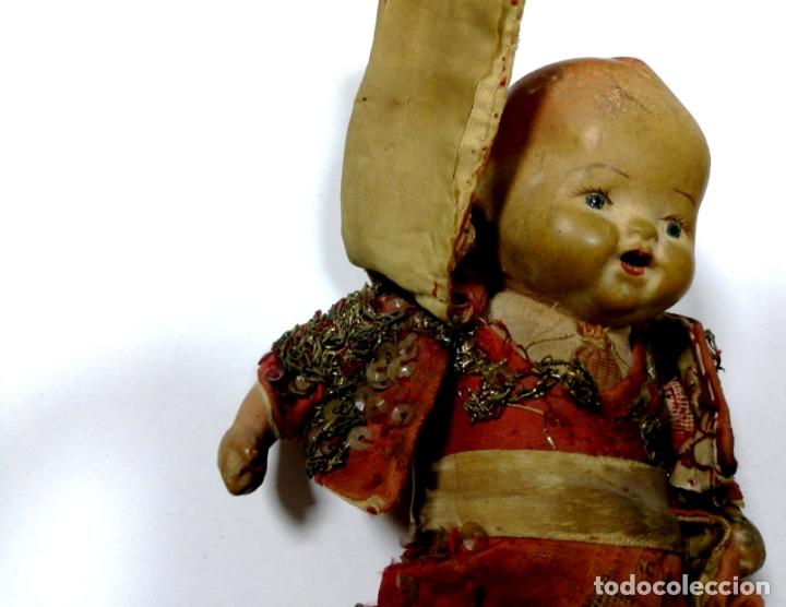 Muñeca española clasica: ANTIGUO MUÑECO VESTIDO DE TORERO. VER FOTOS. MEDIDAS : 17 X 9 CM APROX. - Foto 6 - 166900928