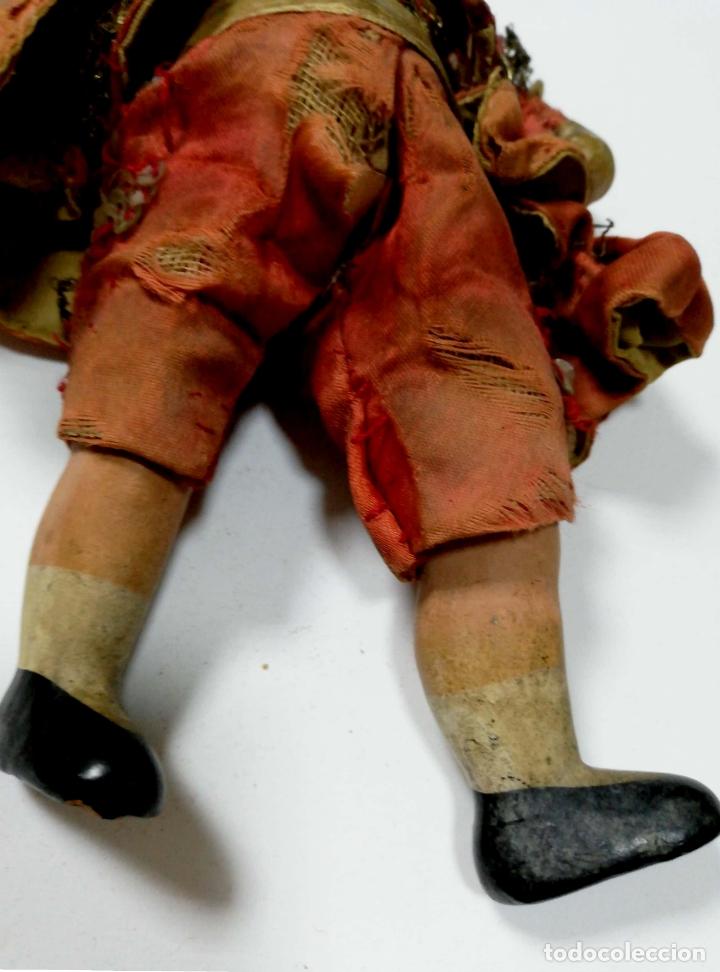Muñeca española clasica: ANTIGUO MUÑECO VESTIDO DE TORERO. VER FOTOS. MEDIDAS : 17 X 9 CM APROX. - Foto 7 - 166900928