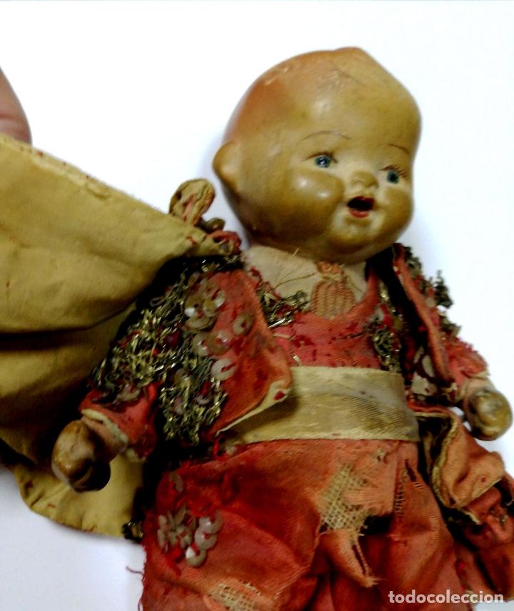 Muñeca española clasica: ANTIGUO MUÑECO VESTIDO DE TORERO. VER FOTOS. MEDIDAS : 17 X 9 CM APROX. - Foto 9 - 166900928