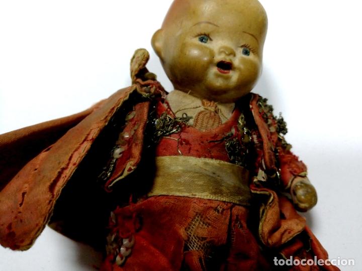 Muñeca española clasica: ANTIGUO MUÑECO VESTIDO DE TORERO. VER FOTOS. MEDIDAS : 17 X 9 CM APROX. - Foto 10 - 166900928