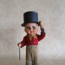 Muñeca española clasica: ANTIGUO MUÑECO DE CARTON PIEDRA FINALES SIGLO XIX CON CUERDA AUTOMATA. Lote 29334998