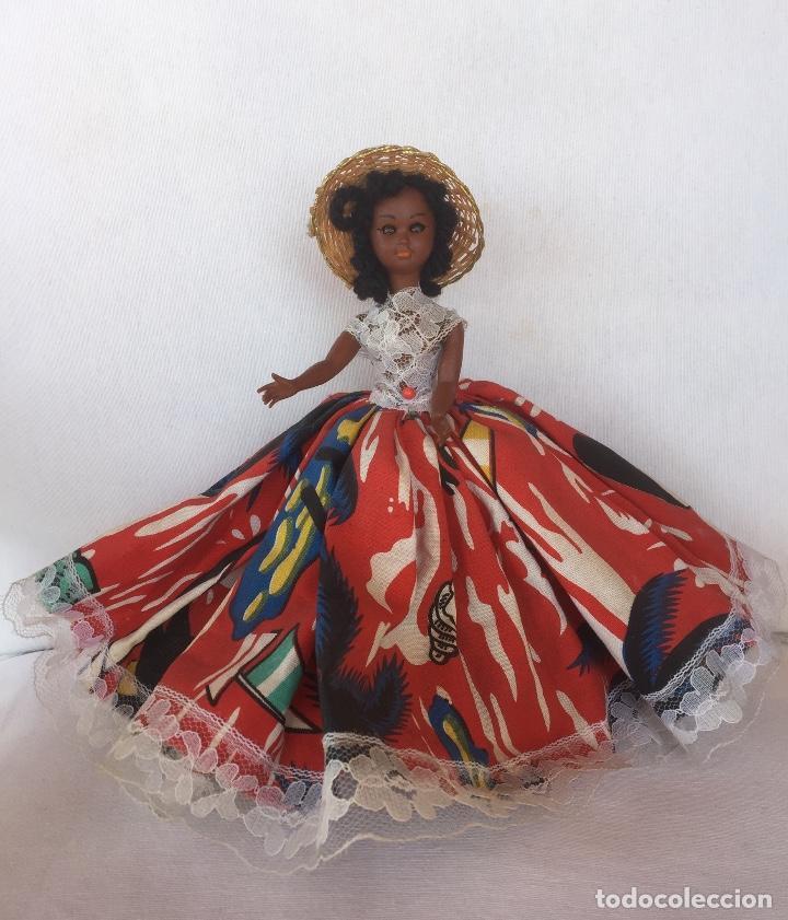 Muñeca española clasica: Preciosa muñeca negrita celuloide - Foto 3 - 169569360