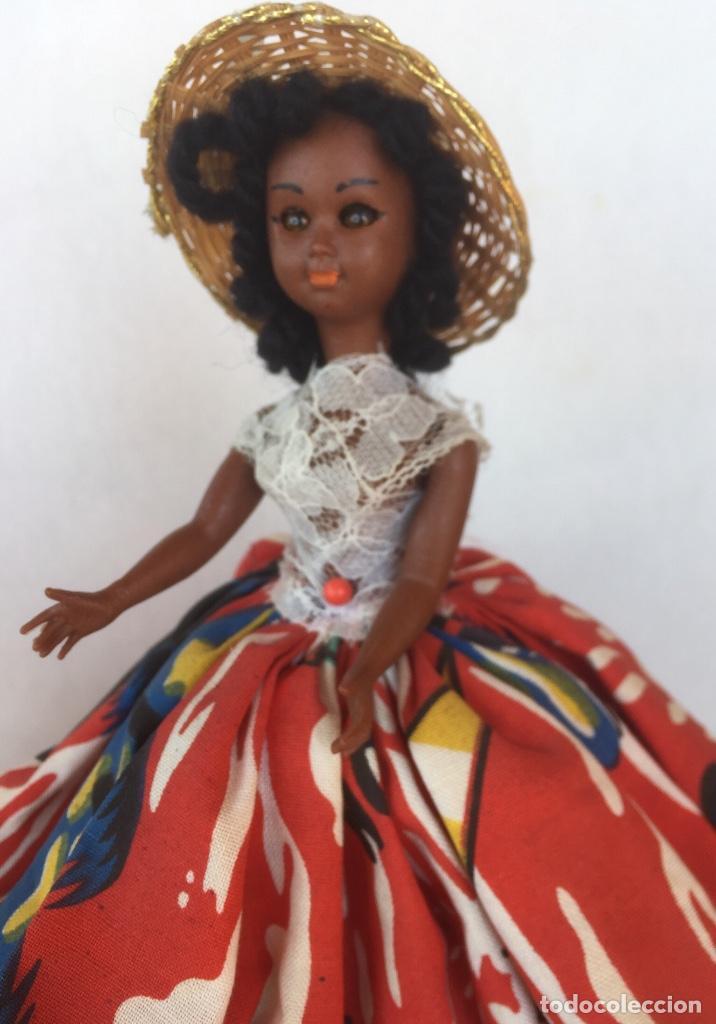 Muñeca española clasica: Preciosa muñeca negrita celuloide - Foto 6 - 169569360