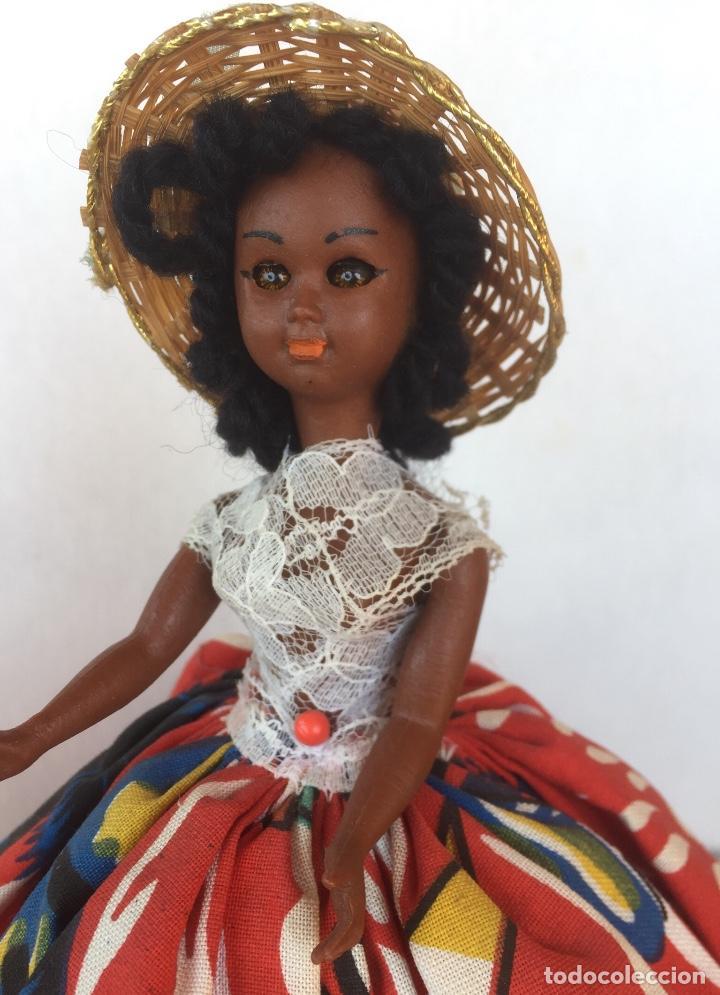 Muñeca española clasica: Preciosa muñeca negrita celuloide - Foto 7 - 169569360
