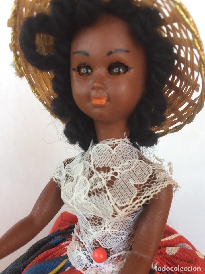 Muñeca española clasica: Preciosa muñeca negrita celuloide - Foto 8 - 169569360
