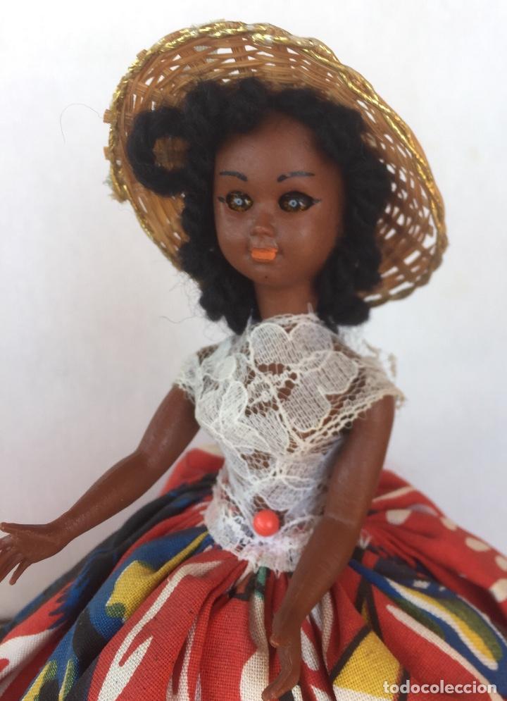 Muñeca española clasica: Preciosa muñeca negrita celuloide - Foto 9 - 169569360