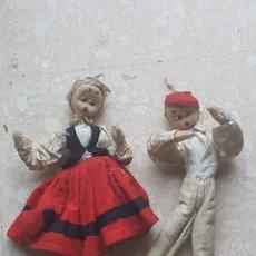 Muñeca española clasica: MUÑECO CATALAN, MUÑECA DE TRAPO CON ESQUELETO DE ALAMBRE. Lote 169658282