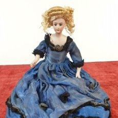 Muñeca española clasica: MUÑECA DE PORCELANA. 0/5. VESTIDO DE SEDA. OJOS DE CRISTAL. PRINCIPÌOS SIGLO XX. Lote 169963644