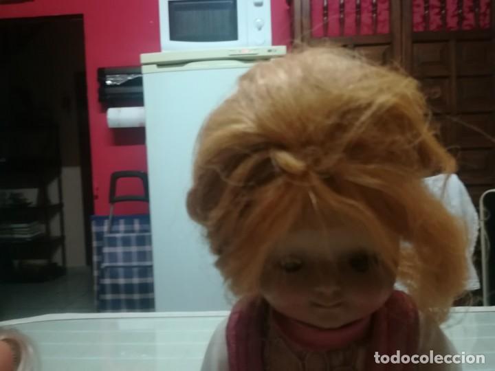Muñeca española clasica: Muy rara muñeca con cabeza de celuloide? con pelo natural y cuerpo de cartón piedra miren fotos - Foto 8 - 171548799