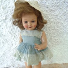 Muñeca española clasica: MUY BONITA MUÑECA MARICELA DE FINALES AÑOS 40 - EN CARTÓN PIEDRA, CABELLO NATURAL OJOS DURMIENTES. Lote 172410855