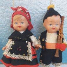 Muñeca española clasica: PAREJA MUÑECOS REGIONALES GALLEGOS??. Lote 172954228