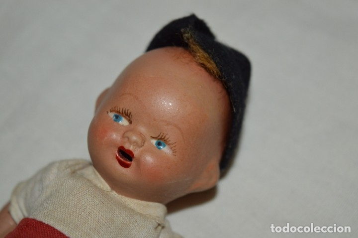 Muñeca española clasica: Antigua muñeco con ropa - CERÁMICA / TERRACOTA / BARRO / ARCILLA... Preciosa ¡Mira fotos/detalles! - Foto 3 - 174934453