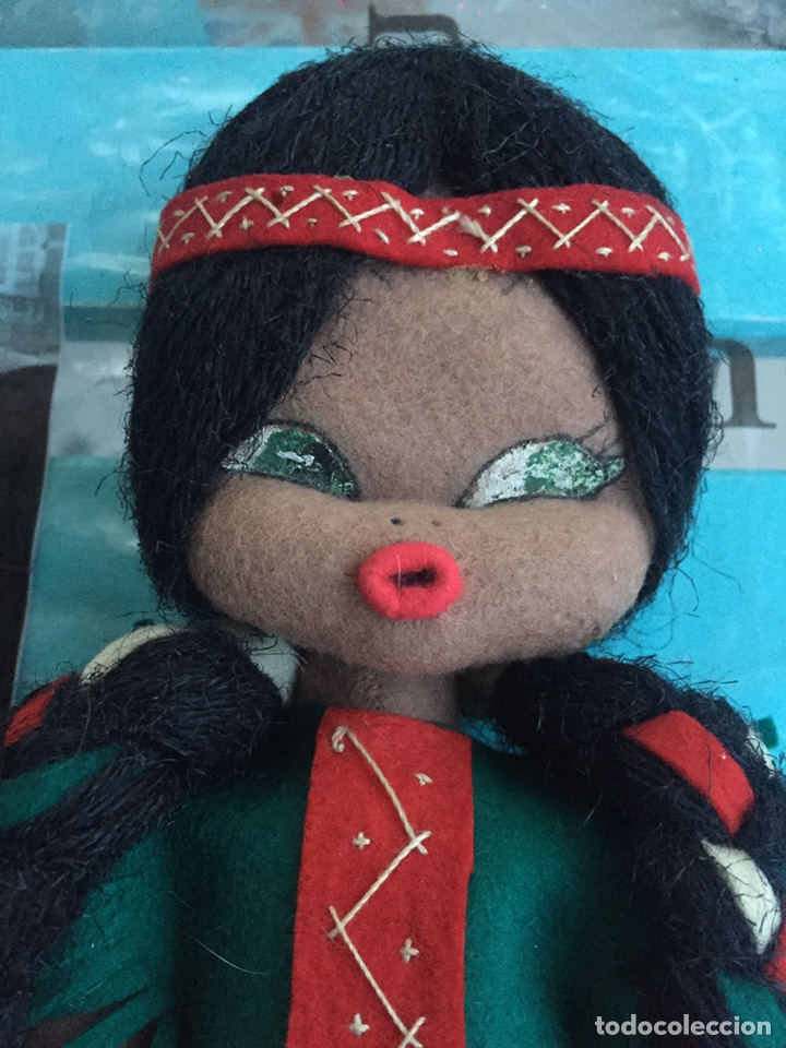 MUÑECA FIELTRO INDIA. AÑOS 60. (Juguetes - Otras Muñecas Españolas Clásicas (Hasta 1.960))