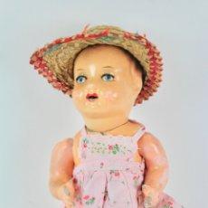 Muñeca española clasica: MUÑECA CON CABEZA Y CUERPO DE CARTON PIEDRA. PRINCIPIOS S .XX.. Lote 175438418