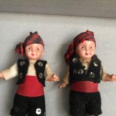 Muñeca española clasica: MUÑECOS TRAJE REGIONAL ARAGONES DE CELULOIDE. Lote 175443814