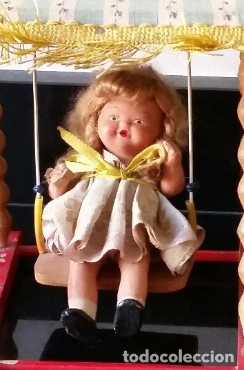 Muñeca española clasica: COLUMPIO SONORO PIT AÑOS 50 EN SU CAJA ORIGINAL - Foto 2 - 175901434