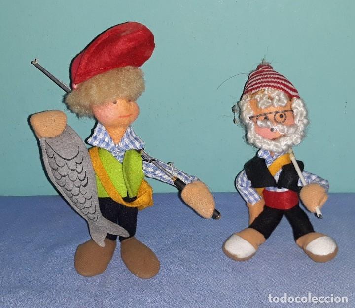 2 MUÑECOS ANTIGUOS DE FIELTRO ROLDAN LAYNA ? VER FOTOS Y DESCRIPCION (Juguetes - Otras Muñecas Españolas Clásicas (Hasta 1.960))