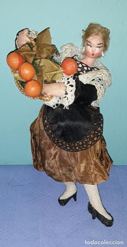MUÑECA ANTIGUA DE FIELTRO VALENCIANA ROLDAN LAYNA ? VER FOTOS Y DESCRIPCION (Juguetes - Otras Muñecas Españolas Clásicas (Hasta 1.960))