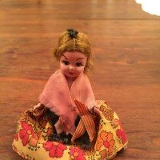 Muñeca española clasica: ANTIGUA PEQUEÑA MUÑECA DE CELULOIDE VESTIDO TRADICIONAL VALENCIANO AÑOS 60. Lote 176869534