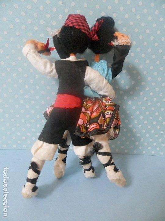 Muñeca española clasica: MUÑECA MUÑECO DE FIELTRO PAREJA BAILADORES AÑOS 40-50 ARAGON ARAGONESES ? - Foto 4 - 177276999