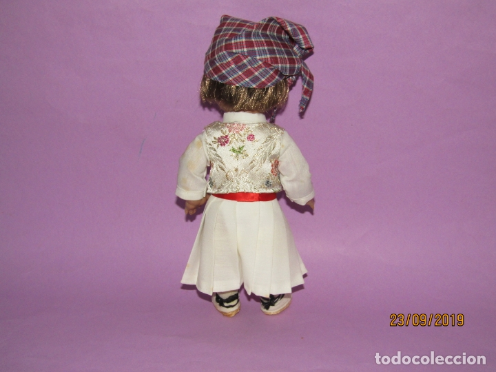 Muñeca española clasica: Antigua Muñeca LINDA PIRULA PIRULO de Muñecas de ALBA con Traje Típico Huertano de MURCIA o VALENCIA - Foto 6 - 177427138