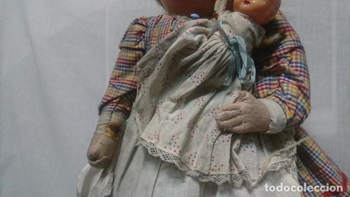 Muñeca española clasica: ANTIGUA MUÑECA DE COMPOSICIÓN CON LLORÓN, AÑOS 40 - Foto 4 - 178124214