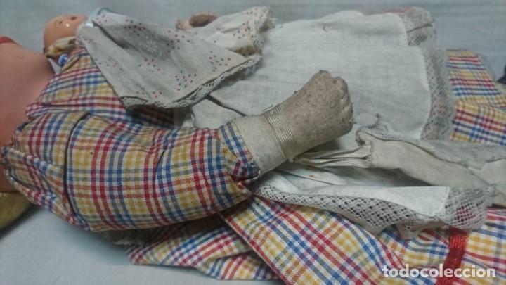 Muñeca española clasica: ANTIGUA MUÑECA DE COMPOSICIÓN CON LLORÓN, AÑOS 40 - Foto 8 - 178124214