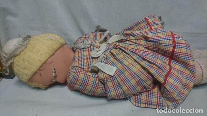 Muñeca española clasica: ANTIGUA MUÑECA DE COMPOSICIÓN CON LLORÓN, AÑOS 40 - Foto 12 - 178124214