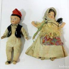 Muñeca española clasica: PAREJA DE MUÑECOS DE ESCAYOLA O CARTÓN PIEDRA?? MUY ANTIGUOS.. Lote 178609382