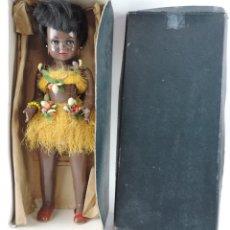 Boneca espanhola clássica: BONITA MUÑECA NEGRITA ARTICULADA DE LA MARCA SISSI REFERENCIA 514, EN SU CAJA ORIGINAL, MEDIDAS:46. Lote 178749112