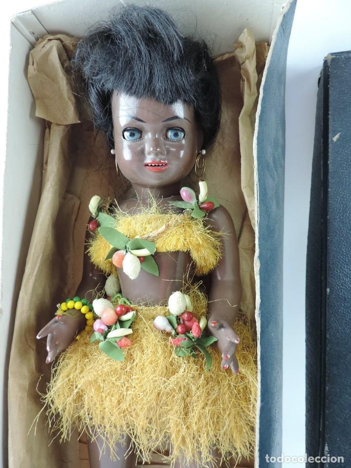Muñeca española clasica: Bonita Muñeca negrita articulada de la marca SISSI referencia 514, en su caja original, Medidas:46 - Foto 2 - 178749112