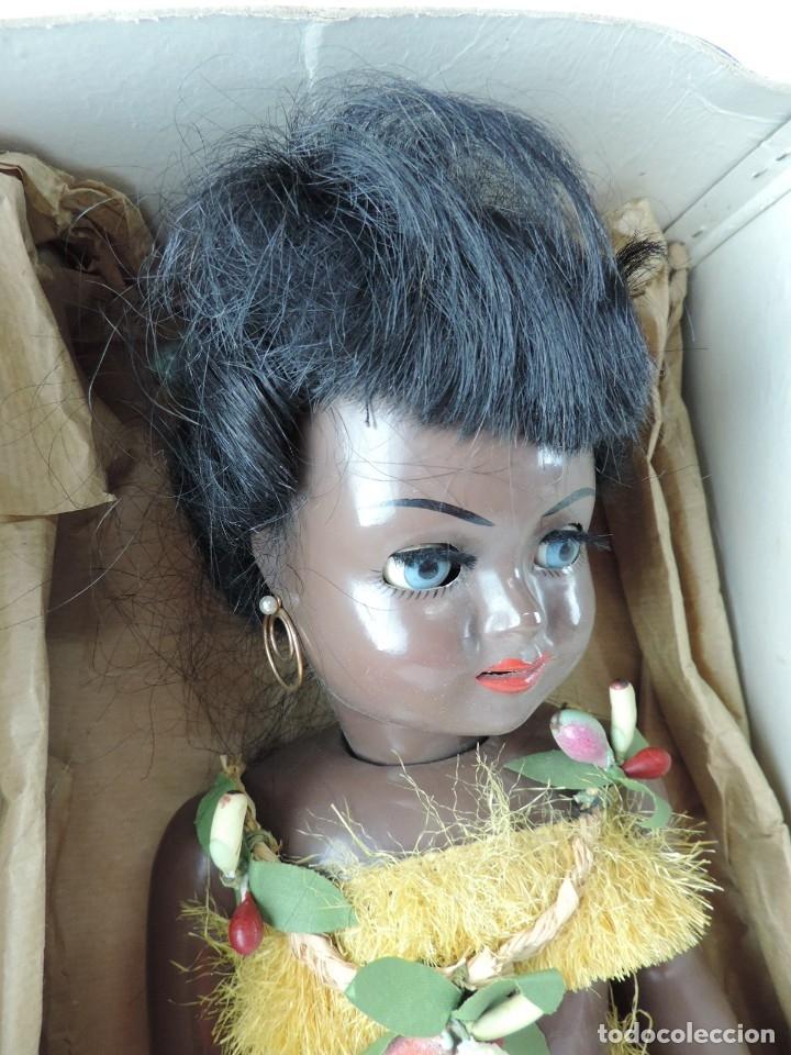Muñeca española clasica: Bonita Muñeca negrita articulada de la marca SISSI referencia 514, en su caja original, Medidas:46 - Foto 3 - 178749112