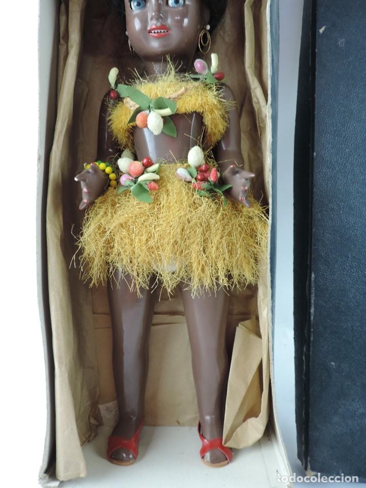 Muñeca española clasica: Bonita Muñeca negrita articulada de la marca SISSI referencia 514, en su caja original, Medidas:46 - Foto 6 - 178749112