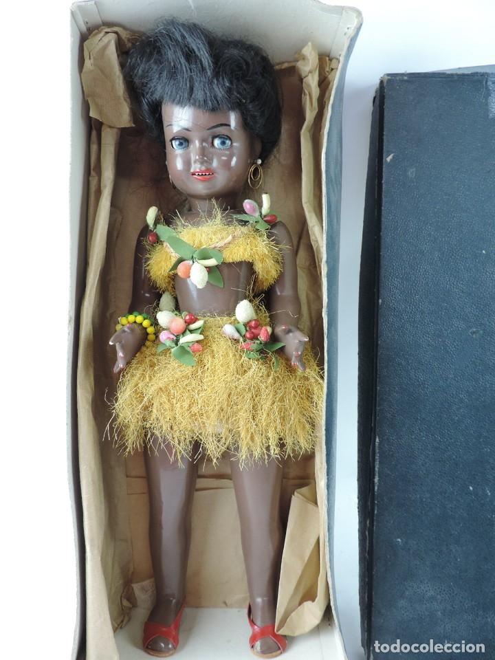 Muñeca española clasica: Bonita Muñeca negrita articulada de la marca SISSI referencia 514, en su caja original, Medidas:46 - Foto 7 - 178749112