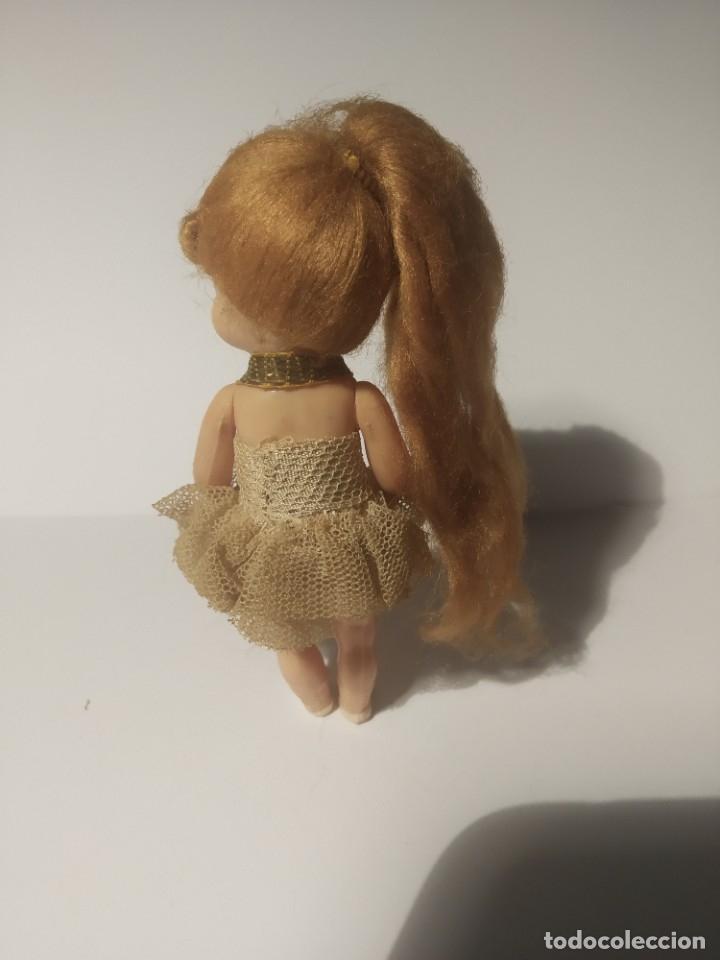 Muñeca española clasica: Preciosa muñeca de celuloide, ojos durmientes vestida de bailarina/pequeñita. - Foto 8 - 179115568