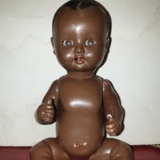 Muñeca española clasica: MUÑECO BEBE NEGRO CELULOIDE AÑOS 40 50 OJOS DURMIENTES Y LLANTO . Lote 179213387