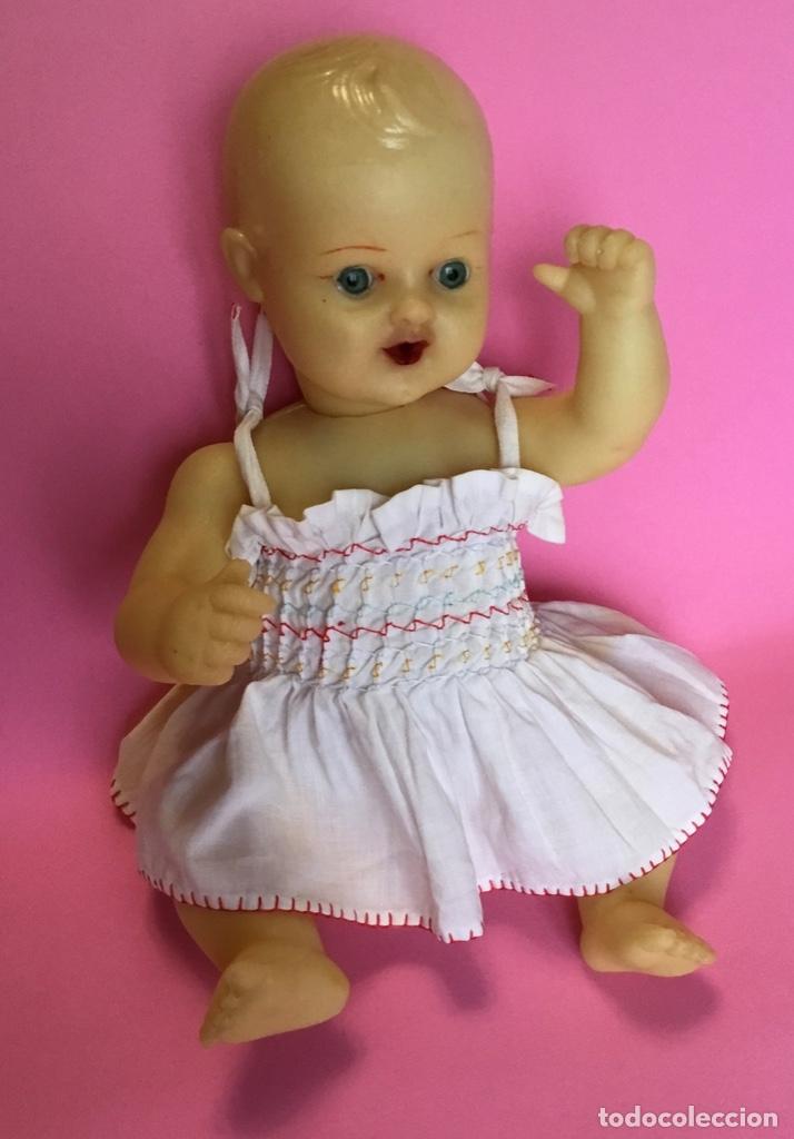 Muñeca española clasica: Bebé en caucho años 50 estilo Miguelín - Foto 4 - 180496026