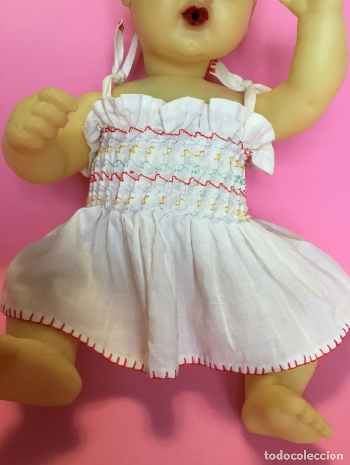 Muñeca española clasica: Bebé en caucho años 50 estilo Miguelín - Foto 10 - 180496026
