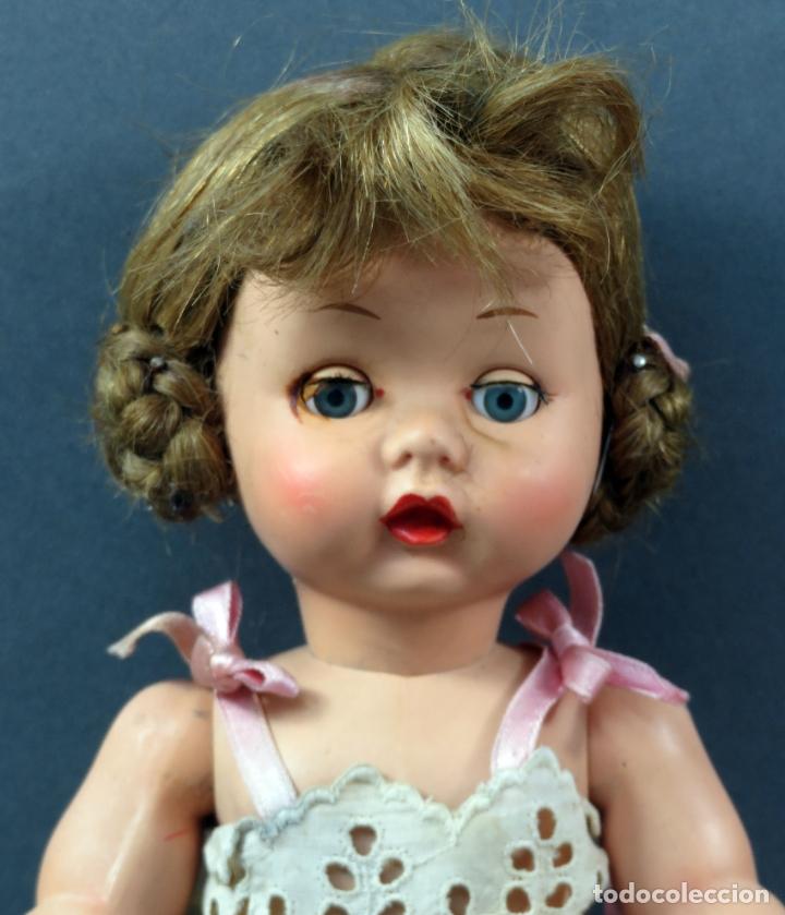 Muñeca española clasica: Angelita LEB celuloide articulada ojo durmiente ropa calzado original 28 cm alto - Foto 2 - 180952702