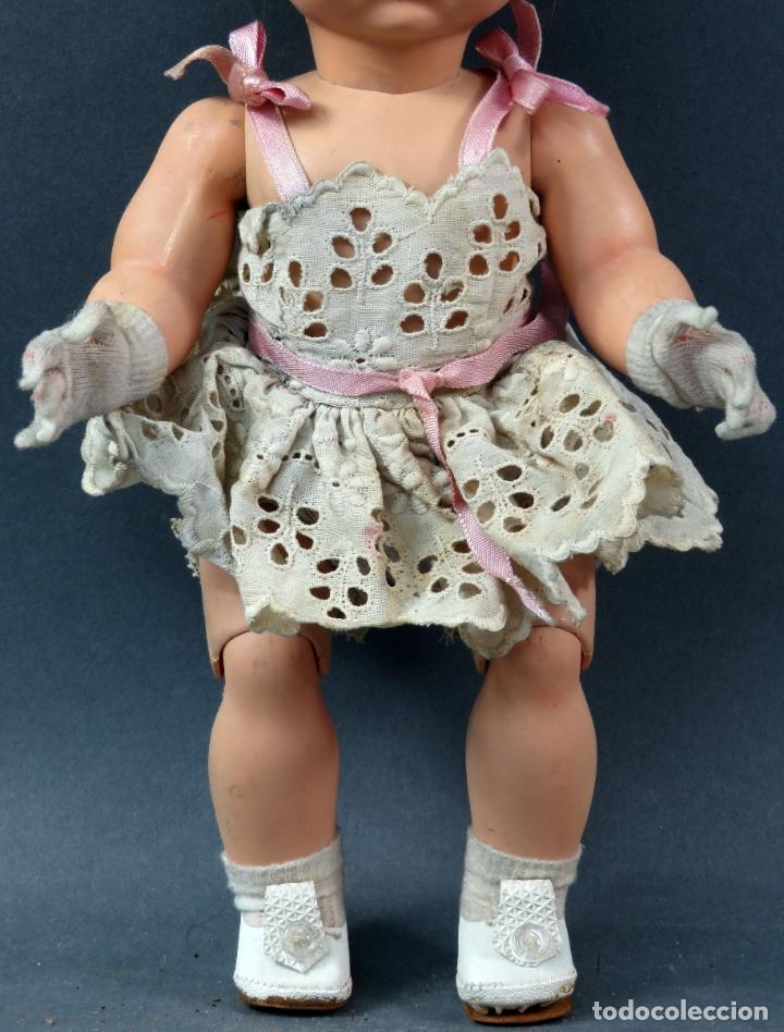 Muñeca española clasica: Angelita LEB celuloide articulada ojo durmiente ropa calzado original 28 cm alto - Foto 3 - 180952702