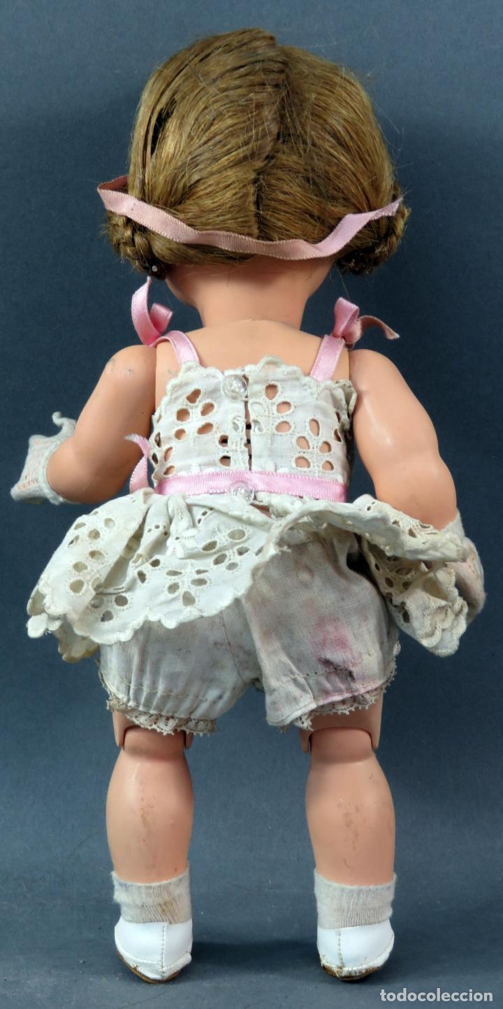 Muñeca española clasica: Angelita LEB celuloide articulada ojo durmiente ropa calzado original 28 cm alto - Foto 4 - 180952702