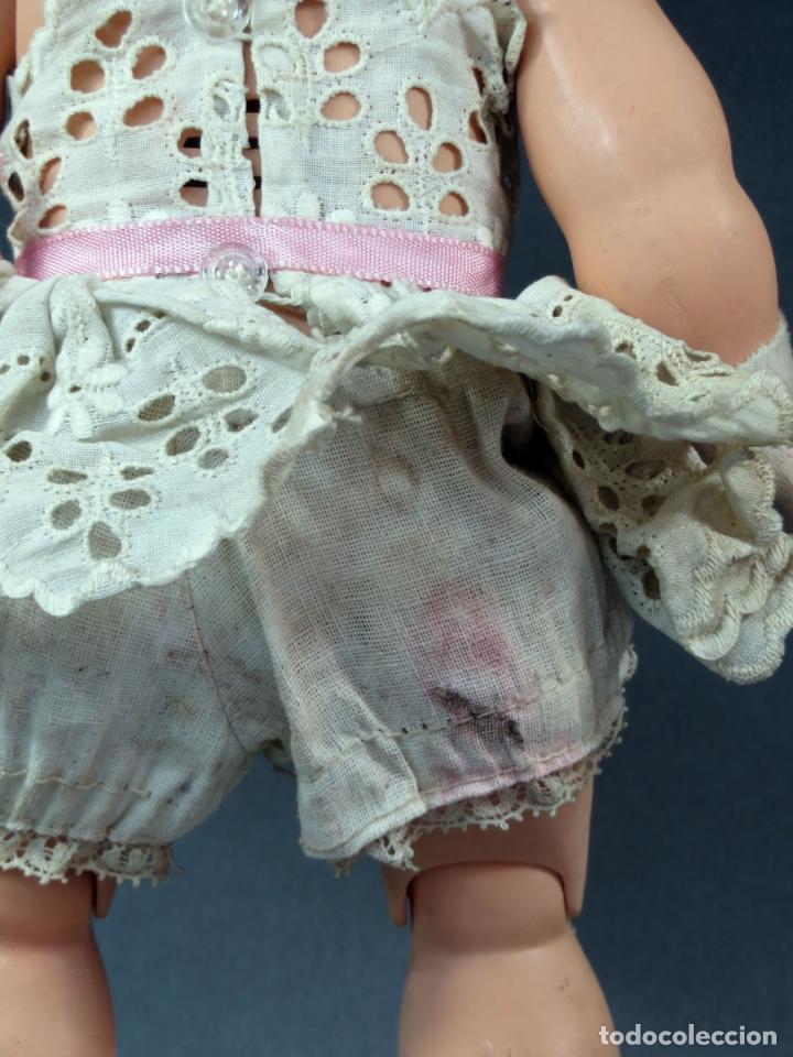 Muñeca española clasica: Angelita LEB celuloide articulada ojo durmiente ropa calzado original 28 cm alto - Foto 5 - 180952702