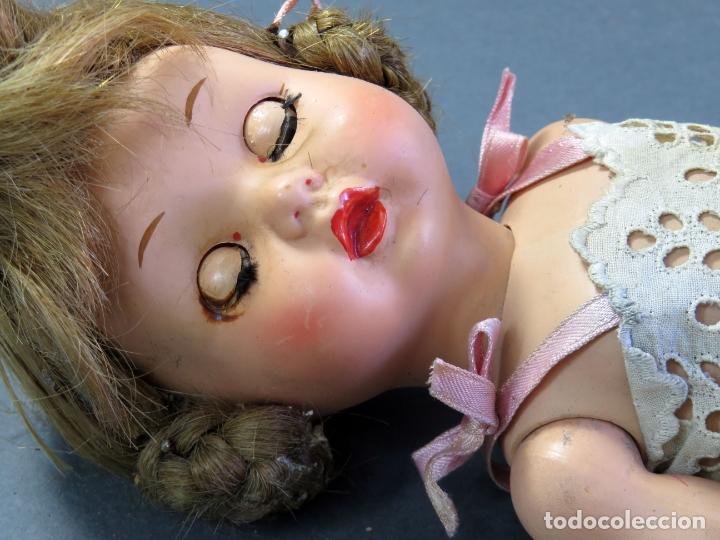 Muñeca española clasica: Angelita LEB celuloide articulada ojo durmiente ropa calzado original 28 cm alto - Foto 6 - 180952702
